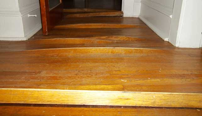 Water damaged wood floor - Water Damage Repair, Wet Basement, And Sewer And Septic Damage